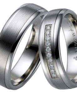 Contemporary Palladium Wedding Ring