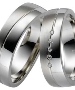 Contemporary Palladium Wedding Ring