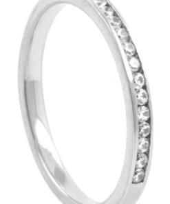 Narrow Half Eternity Diamond Wedding Ring