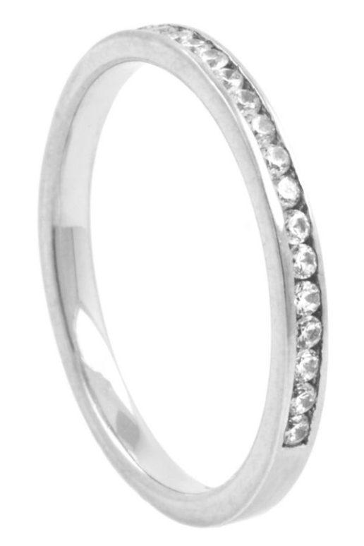 Narrow Half Eternity Diamond Wedding Ring