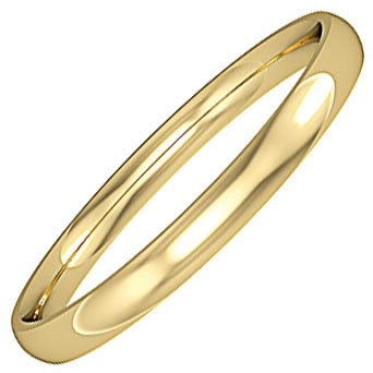 2mm Wide Classic Court Wedding Ring
