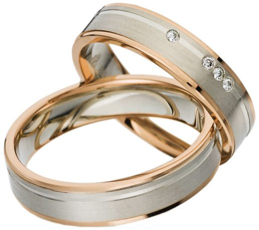 Palladium and Rose Gold Wedding Ring