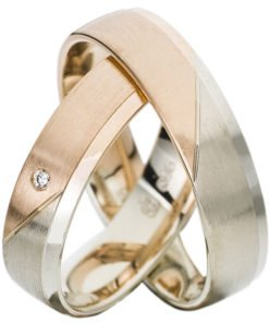 White Gold and Rose Gold Wedding Ring