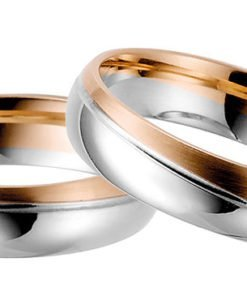 White Gold with Rose Gold wedding ring