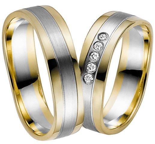 Yellow Gold with Palladium Centre Wedding Ring