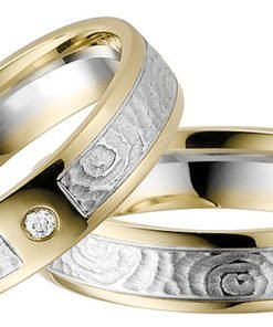 White Gold with Yellow Gold Edges