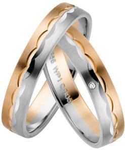 Rose Gold and Palladium Wedding ring