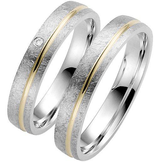 Palladium with Yellow Gold Wedding Ring