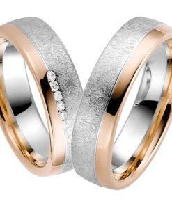 Rose Gold and White Gold Contemporary Wedding Ring