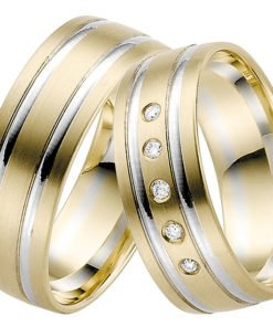 Contemporary Yellow Gold with White Gold Wedding Ring
