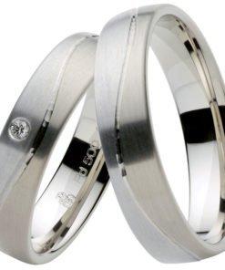 Palladium and White Gold Wedding Ring