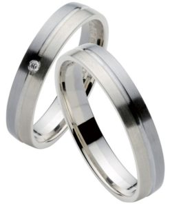 Palladium and White Gold Wedding Ring