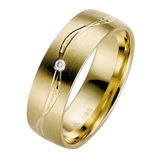 Ladies Yellow Gold Wedding Ring Profile