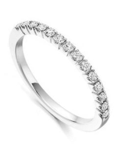 Diamond Half Eternity Wedding Ring with Stylish Setting