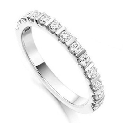 Half Eternity Diamond Wedding Ring