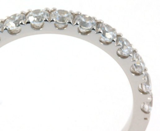 1ct Diamond Wedding Ring side profile