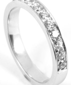 Platinum or Gold Half Eternity Diamond Wedding Ring