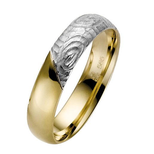 Yellow Gold with White Gold Wedding Ring