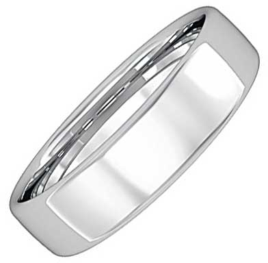 5mm Wide Bombe Court Wedding Ring