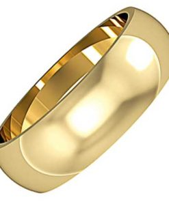 6mm Wide D-Shaped Wedding Ring