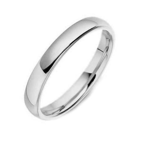 2.5mm Wide Classic Court Wedding Ring