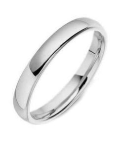 3mm Wide Classic Court Wedding Ring