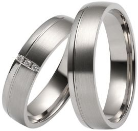Palladium wedding rings are available in a range of contemporary styles.