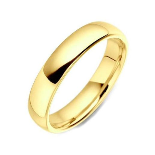 4mm Wide Classic Court Wedding Ring