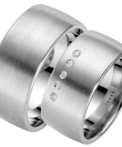 wide silver wedding ring