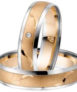 Rose Gold and Palladium Wedding Band