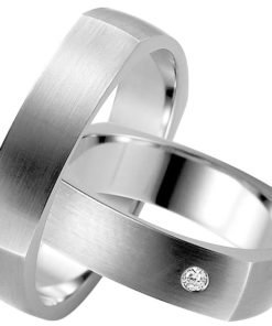 square Silver Wedding Ring