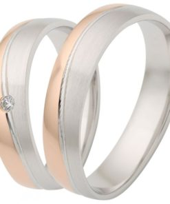 Rose Gold with Palladium Wedding Ring