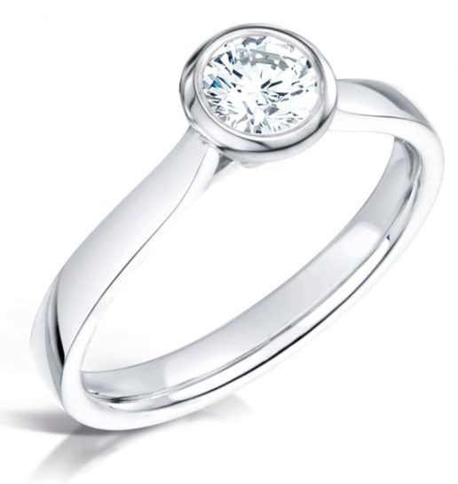 White Gold Solitaire Diamond Engagement Ring