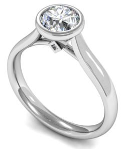 Round Brilliant Solitaire Diamond Engagement Ring