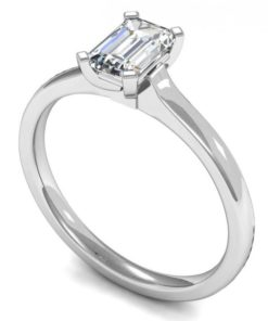Classic Emerald Cut Diamond Engagement Ring