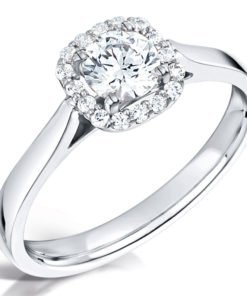 Round Brilliant Vintage Halo Engagement Ring