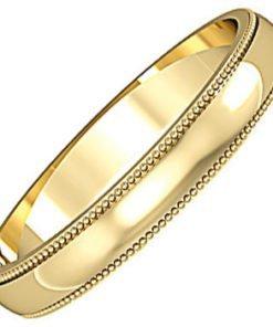 Mill grain edge wedding ring