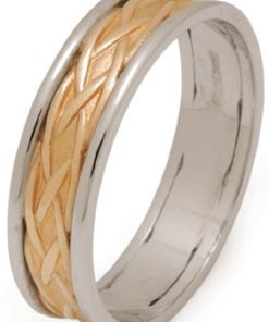 Celtic Weave Wedding Ring with Rims