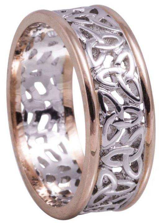Rose Gold and White Gold Trinity Knot Wedding Ring