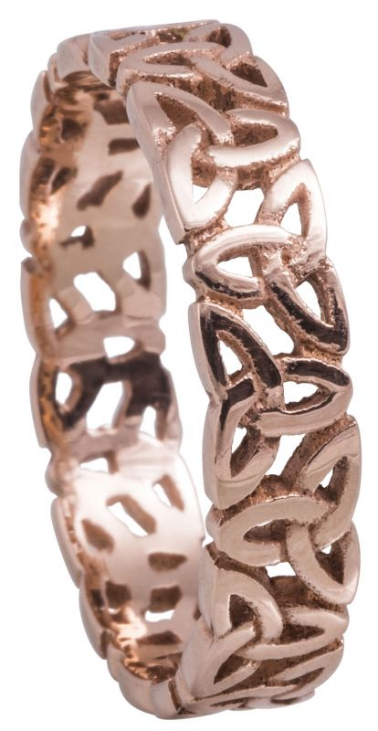 Ladies Rose Gold Trinity Knot Wedding Band