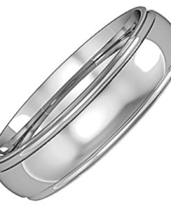 Mens Track Edge Wedding Ring