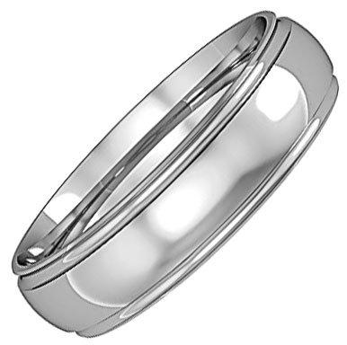 Mens Track Edge Wedding Ring