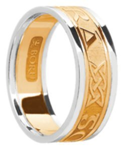 'Gra Go Deo' Wedding Band with Rims