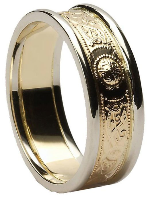 Celtic Shield Wedding Ring