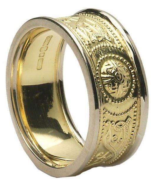 Celtic Warior Shield Wedding Ring